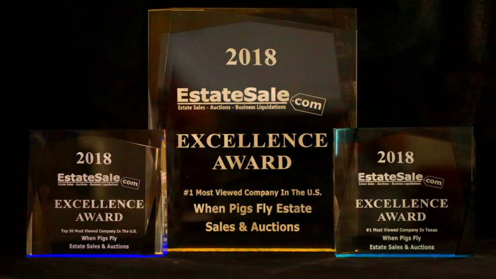 When Pigs Fly Estate Sales 2018 Excellence Award